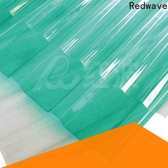 Redwave matte polycarbonate roofing sheets factory price for factory