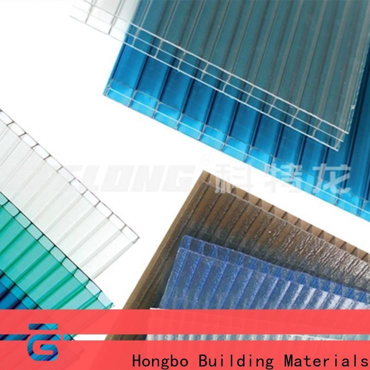 Redwave diamond polycarbonate panels in bulk for scenic buildings