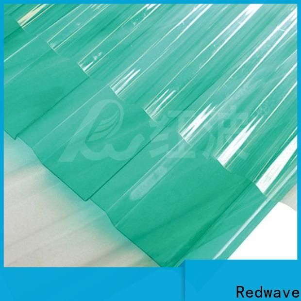 Redwave eco-friendly polycarbonate roofing sheets with certification for ocean hall