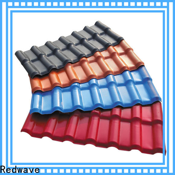 Redwave resistance corrugated plastic roofing factory price for residence