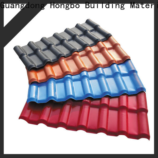 Redwave low cost synthetic resin roof tile with certification for scenic buildings