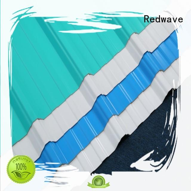 Redwave eco-friendly corrugated plastic roofing directly sale for workhouse