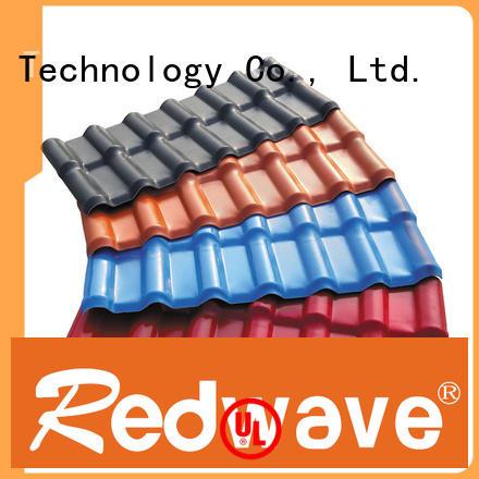 Redwave Brand heat synthetic orange purplish red spanish tile roof