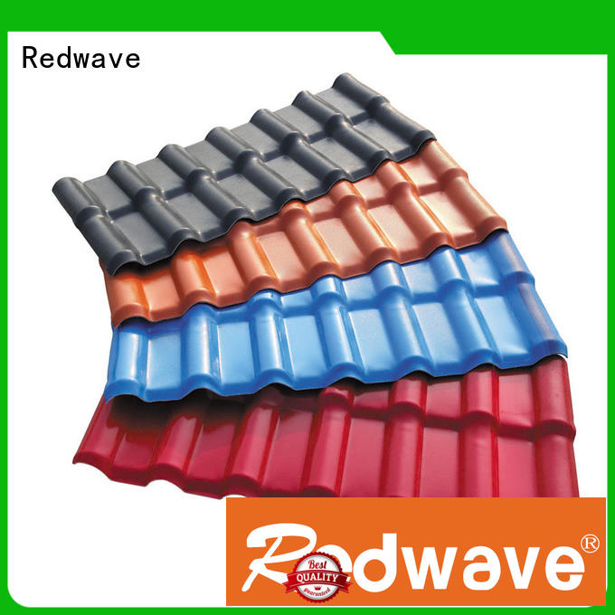 Redwave superior resin roof tiles factory price for scenic buildings