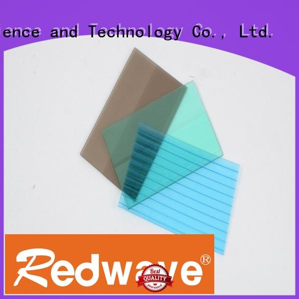green polycarbonate roofing sheets 3.0mm solid quality Redwave company