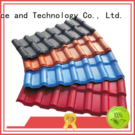 Redwave Brand brick red bright red plastic spanish roof tiles purplish red supplier