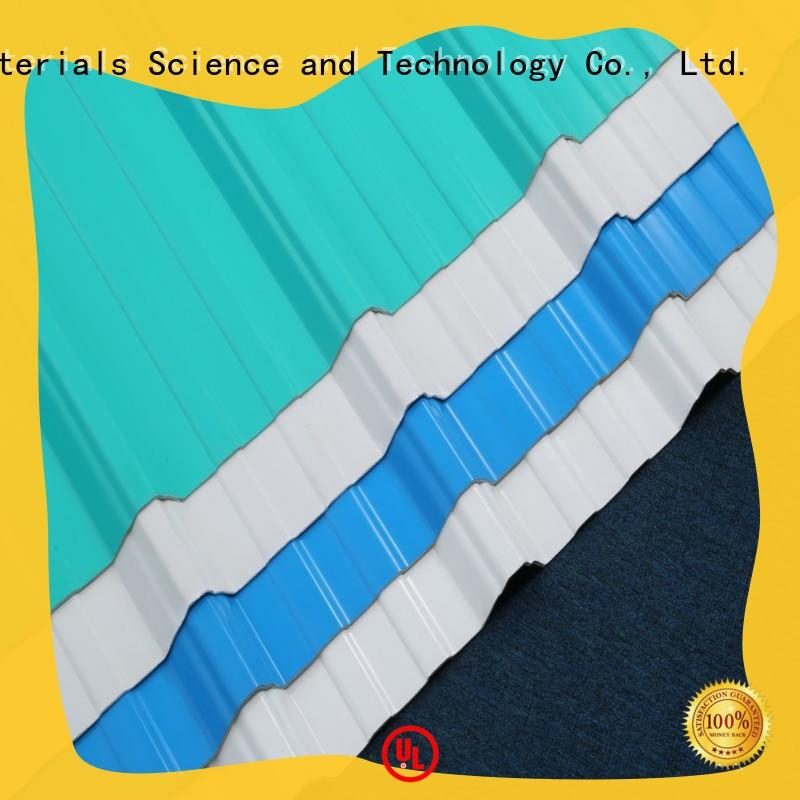eco-friendly corrugated plastic roofing sheets redwave widely use for factory