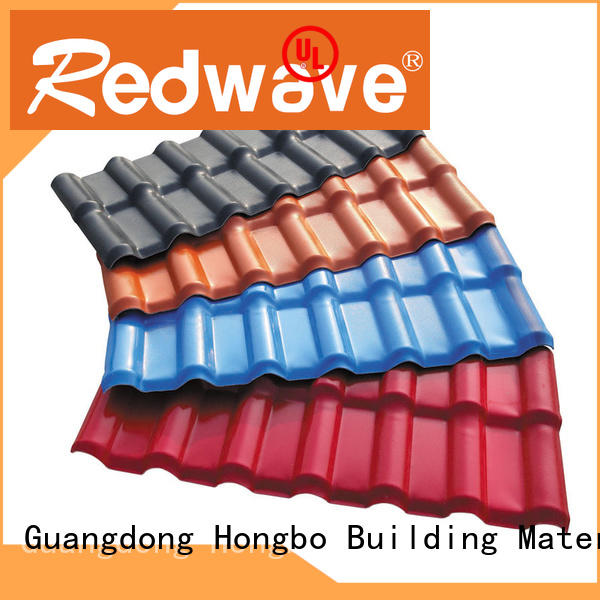 insulation purplish red plastic spanish roof tiles Redwave manufacture