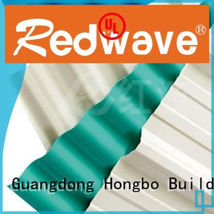 Custom color blue pvc roofing sheets Redwave resistance