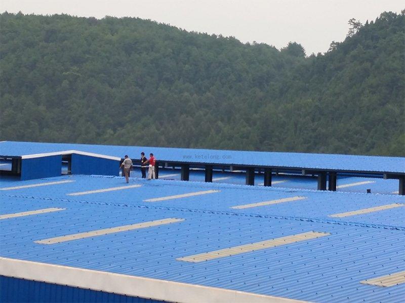 ASAPVC roofing sheet project in Guizhou , 2.0mm , 20000M2