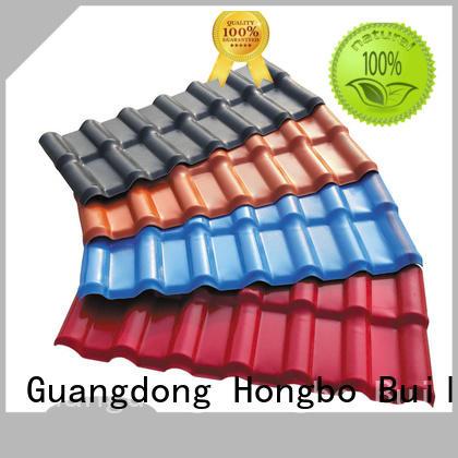 Redwave Brand high quality purplish red plastic spanish roof tiles lasting
