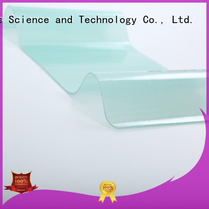 Redwave Brand transparent resistant corrugated fiberglass roofing panels